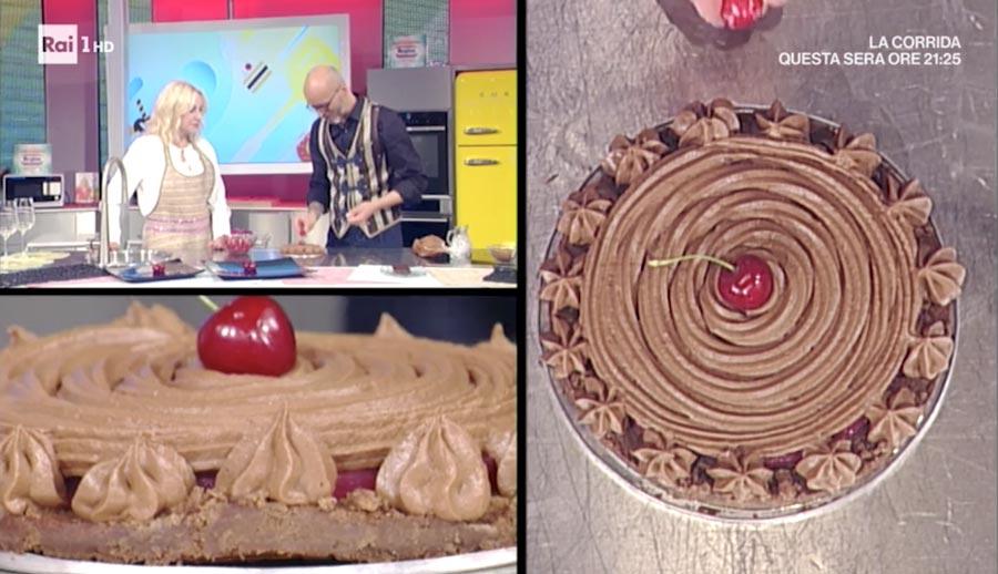 guido castagna torta cake cioccolato ciliegie